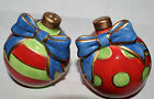 Estate:Fitz and Floyd  Decorative Salt & Pepper Shakers Kringle Christmas Bulbs