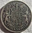 1943 FAR WIDE 3 ~ CANADA 50 CENTS ~ TONED LOW MINTAGE ~ KGVI SILVER ~ LOT EI-17