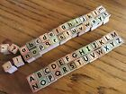 Alphabet Stamps Upper  Lower Case Wooden and Rubber Letter Stamp Set