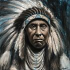 Chief Joseph Native American Artwork Oil Painting Stretched Canvas Giclee Print