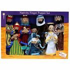 The Puppet Christmas Nativity Finger Puppet Set Toy New