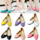 Womens Lady Round Toe Boat Shoes Ballerina Slip On Ballet Flat Work Single Shoes