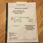 Terex TA64 OPERATION MAINTENANCE MANUAL KNUCKLE BOOM LIFT OPERATOR GUIDE 17318