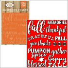 Happy Fall embossing folder Echo Park embossing folders Cuttlebug Compatible