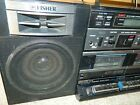 VTG FISHER PH-W707 AM/FM RADIO DUAL CASSETTE BOOMBOX GHETTO BLASTER