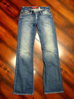 BIG STAR JEANS DISTRESSED COTTON BLUE HIPSTER VINTAGE BOOT CUT Womens 2 W26 L33