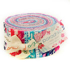 LAST ONE PARADISO 40 25 STRIPS JELLY ROLL MODA FABRIC KATE SPAIN PINK AQUA
