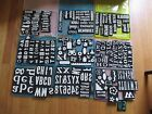Lot 135 Foam Stamps Letters Numbers Pictures Words Plastic Storage Containers