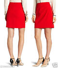 TRINA TURK career work CLASSIC bright RED mid thigh classic SKIRT NWT 218 10