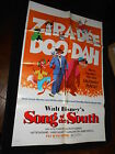 Song Of The South Walt Disney Cartoon Feature R72 One Sheet Poster