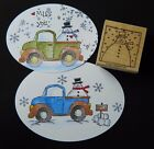Stampin up stamp ADORABLE WINTER SNOWMAN snow use w loads of love truck su