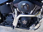 1 75 Drag LAF Pipes Mufflers Exhaust for Harley Touring Dyna Softail Sportster