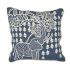 Bloomsbury Market Purti Tribal Elephant Linen Throw Pillow