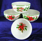 NEW! 222 Fifth China HOLIDAY FESTIVITIES (4) Cereal Bowls Christmas Poinsettia