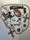 UNIQUE RELIGIOUS SPIRITUAL LOT ROSARY CROSS ANGELS DOVE SIGNED MOVING SALE