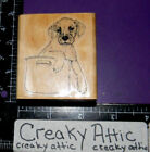 PUPPY IN A POT DOG RUBBER STAMP CABANA D3-5K