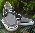 MENS SPERRY TOP SIDERS 2 TONE CANVAS DECK BOAT SHOES Rawhide Laces 2 Eye 95M