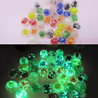 25 Lampwork Glass Beads Glow In The Dark Round Mixed Colors 10mm