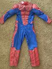 MARVEL DISNEY STORE BOYS SPIDER MAN MUSCLE CHEST COSTUME SIZE 5 6