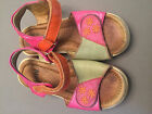 Umi Girls 28 Pink Orange Leather Sandals Shoes PLAY PLEASE READ