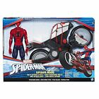 MARVEL SPIDER MAN TITAN HERO SERIES Spider Man Figure With Spider Cycle NEW