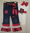 Custom NCAA Jeans Outfit all teams Hurricanes Ole Miss Tigers Tar Heels Gators
