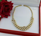 Brillant Collier 750 Gold 7,50 Karat chain necklace brililant cut diamond luxus