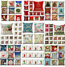 Christmas Series Pillows Case Cotton Linen Pillow Cushion Cover Throw Home Decor
