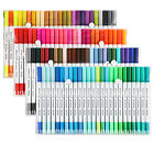 100 Dual Pencil Set Marker Album Dauber Sketch Water Color Marker Brush Pen
