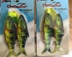2 Large 6 Musky Striper Size Chatterbaits Flash Back Series 8 0 Yellow Perch