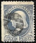 Sc 206 Circular Geometric Fancy Cancel 1 Cent Banknote 1883 Early US Stamp P751