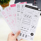 Lovely 6 Sheet Paper Stickers for Scrapbook Calendar Photo Decor Diary Planner