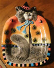 Fitz & Floyd Halloween KITTY WITCHES Party Plate or Hanging Decor