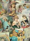 Adorable Vintage VICTORIAN CHILDREN Trade Cards  Scraps Shabby HB Notebook