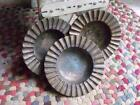 3 Antique Early 1900s Arts  Crafts Bronze Bowls Ashtrays  2 lbs Each