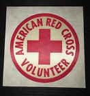 American Red Cross Volunteer Reflector Sticker Patch Brand New