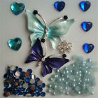 D184 Alloy butterfly DIY Cell Phone Iphone4 4 5 6S Crystal Case Deco Den Kit