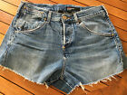 14 Levis Vintage Denim Cut Offs Hotpants Shorts High Waisted W33 L115 AL