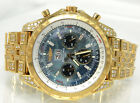 18K GOLD DIAMOND BREITLING BENTLEY WATCH, ONLY 25 MADE, ALL FACTORY DIAMONDS