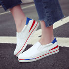 Casual Women Pu Leather Flat Shoes Thick Crust Lazy Loafers Sprot Sneakers