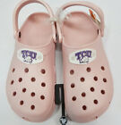 NCAA TCU Horned Frogs Slip On Classic Clog Style Shoe By Crocs Cotton Candy 9 11