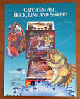 Original Williams FISH TALES Pinball Flyer