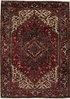 Amazing Great Shape Hand Knotted Heriz Persian Rug Oriental Area Carpet 7X10