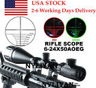 US Illuminated 6 24X50 Red Green Rangefinder Optical Rifle Scope Sight