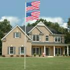 20 25 FT Sectional Aluminum Flagpole US American 3x5 Flag Pole Gold Ball Kit New