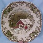 Johnson Brothers The Friendly Village Cereal Bowl Square Covered Bridge Vintage