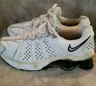 NIKE Air Shox White Leather Athletic Shoes Mens Size 6 FREE SHIPPING