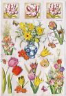 SS 048 SCRAPBOOKING STICKERS 3 D Spring Tulips Daffodils Chinese Vase Crocus