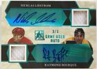 Nicklas Lidstrom Raymond Bourque 2017 Leaf ITG Game Used Dual Auto Patch 3 3 1 1