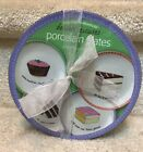NIB 4 BOSTON Warehouse Trading Cake Dessert Plates Nancy Green Shabby Chic 2002